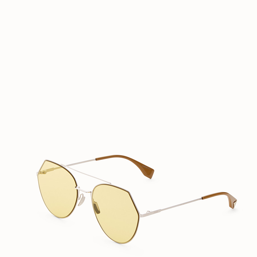 FENDI EYELINE - Silver-colour sunglasses - view 2 detail