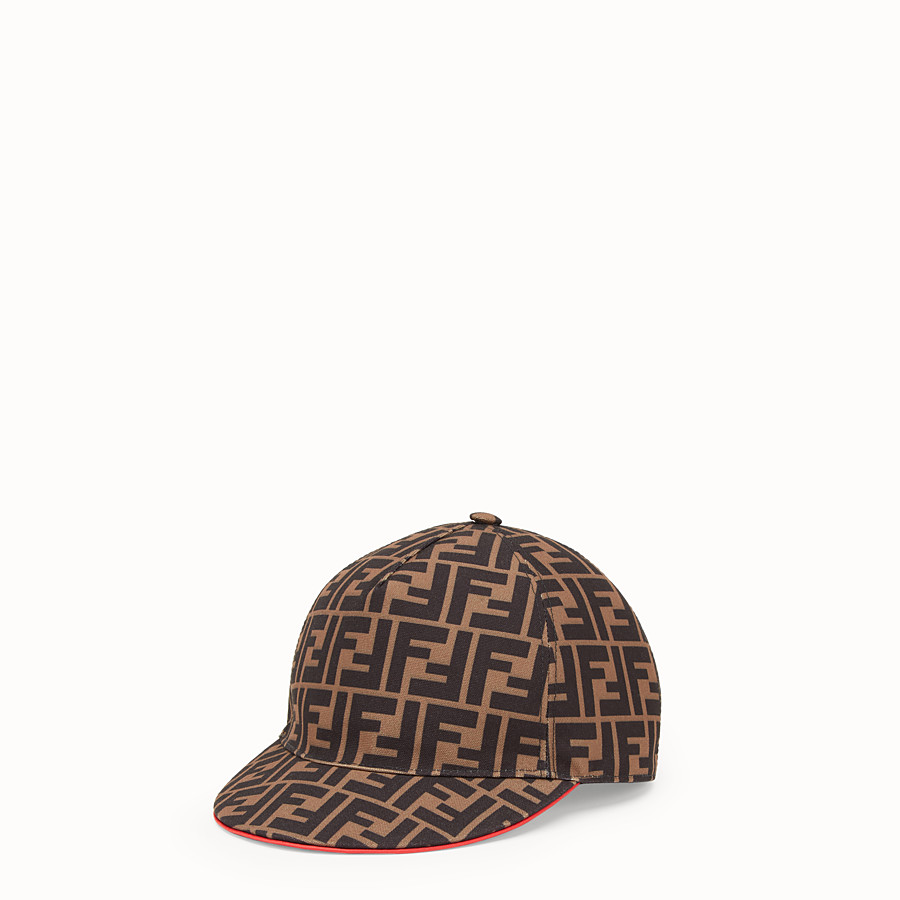 FENDI FENDIRAMA HAT - Multicolour fabric baseball cap - view 1 detail