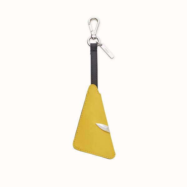 FENDI KEY RING - Yellow leather key ring - view 1 small thumbnail