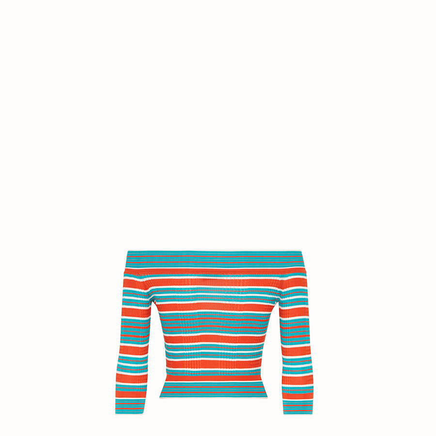 FENDI PULLOVER - Multicolour silk jumper - view 1 detail