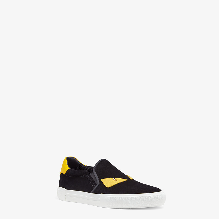 FENDI SNEAKERS - Slip-on in black leather - view 2 detail