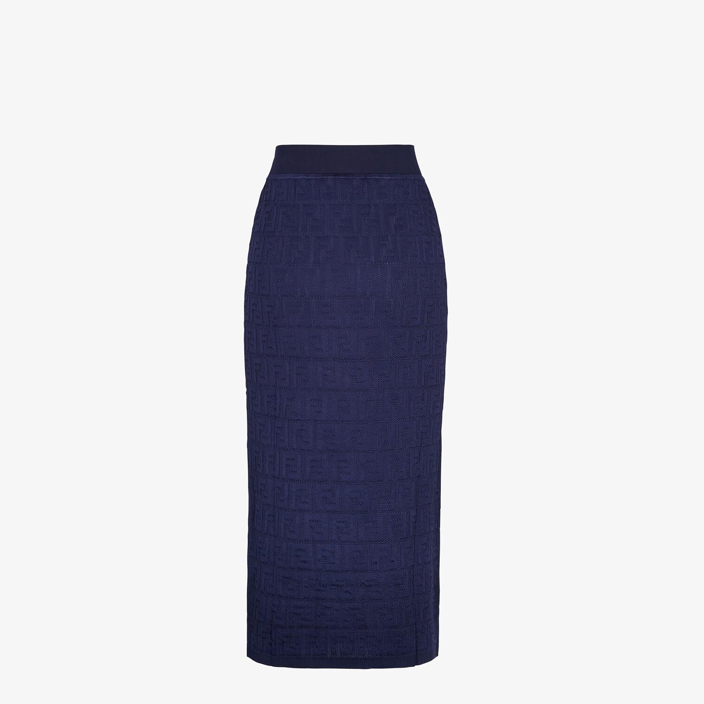 FENDI SKIRT - Blue cotton and viscose skirt - view 2 detail