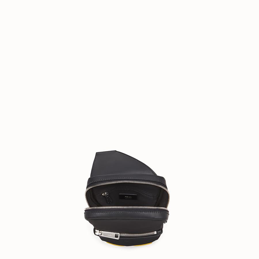 FENDI BELT BAG - One-shoulder backpack in black leather and nylon - view 4 detail