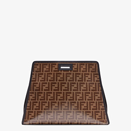 FENDI MEDIUM PEEKABOO DEFENDER - Peekaboo cover in brown fabric - view 3 thumbnail