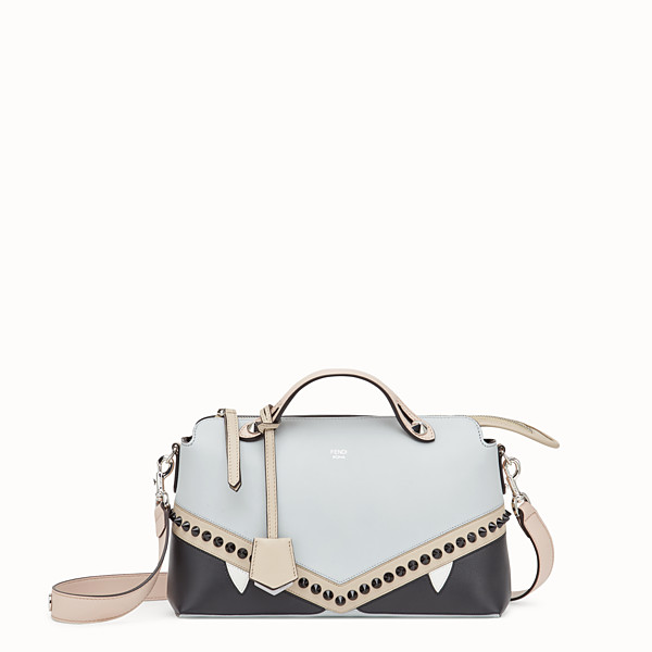 FENDI BY THE WAY REGULAR - Sac Boston en cuir gris - view 1 small thumbnail