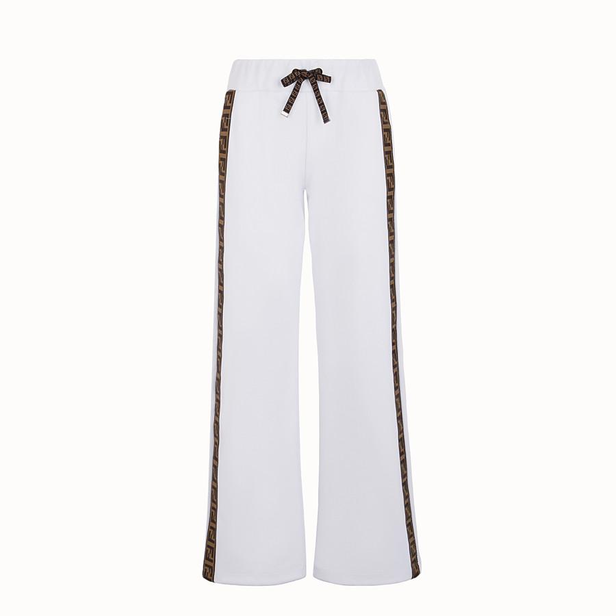 FENDI 長褲 - 白色針織運動長褲 - view 1 detail