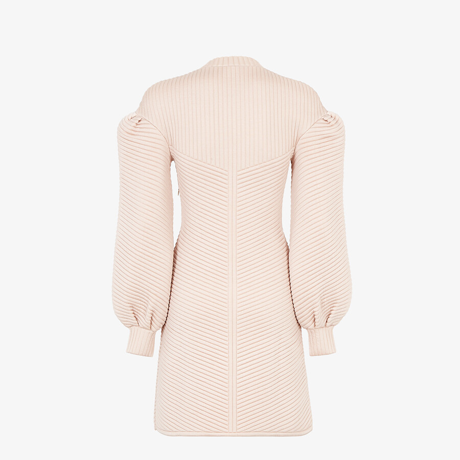 FENDI DRESS - Pink quilted fabric dress - view 2 detail