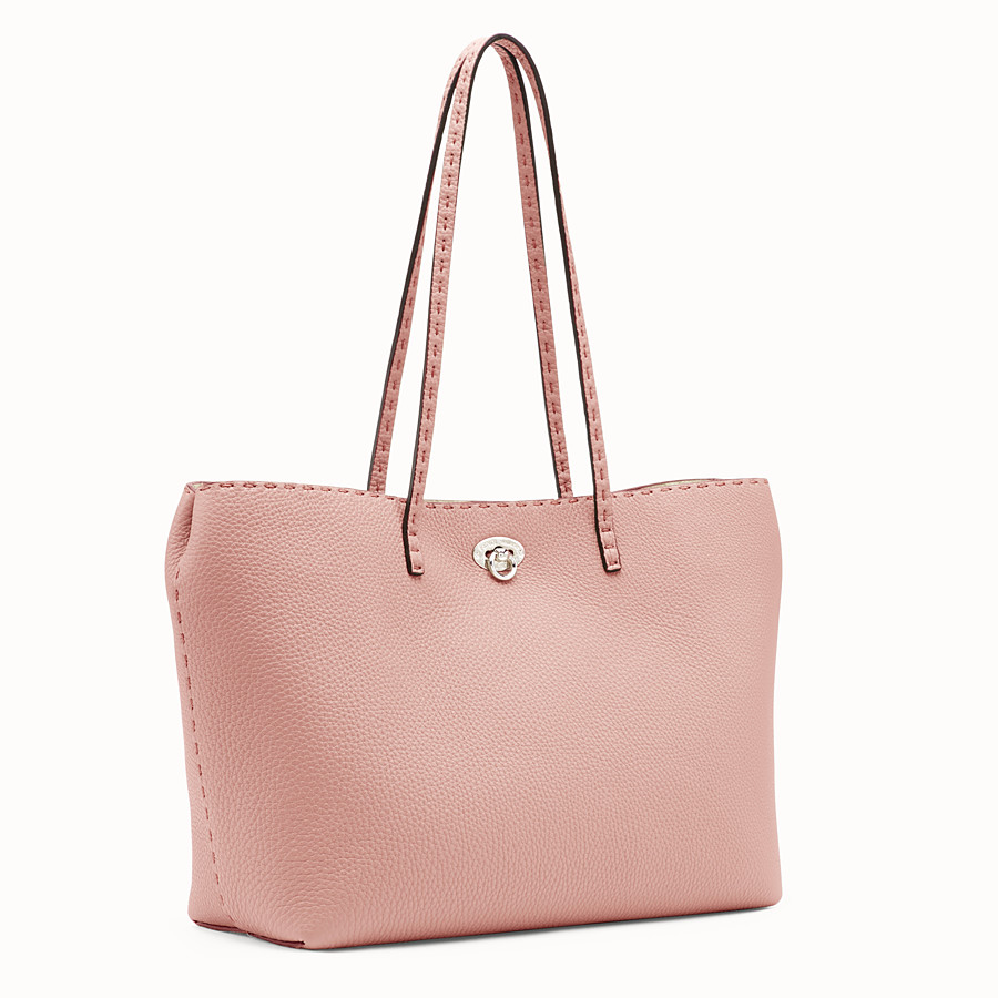 FENDI CARLA BAG SMALL - Pink leather bag - view 2 detail