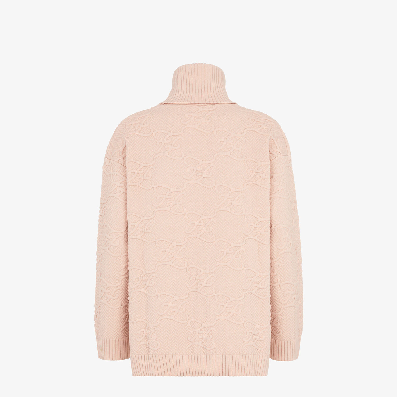 FENDI SWEATER - Pink wool and cashmere sweater - view 2 detail