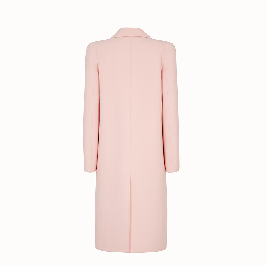 FENDI OVERCOAT - Pink wool overcoat - view 2 detail