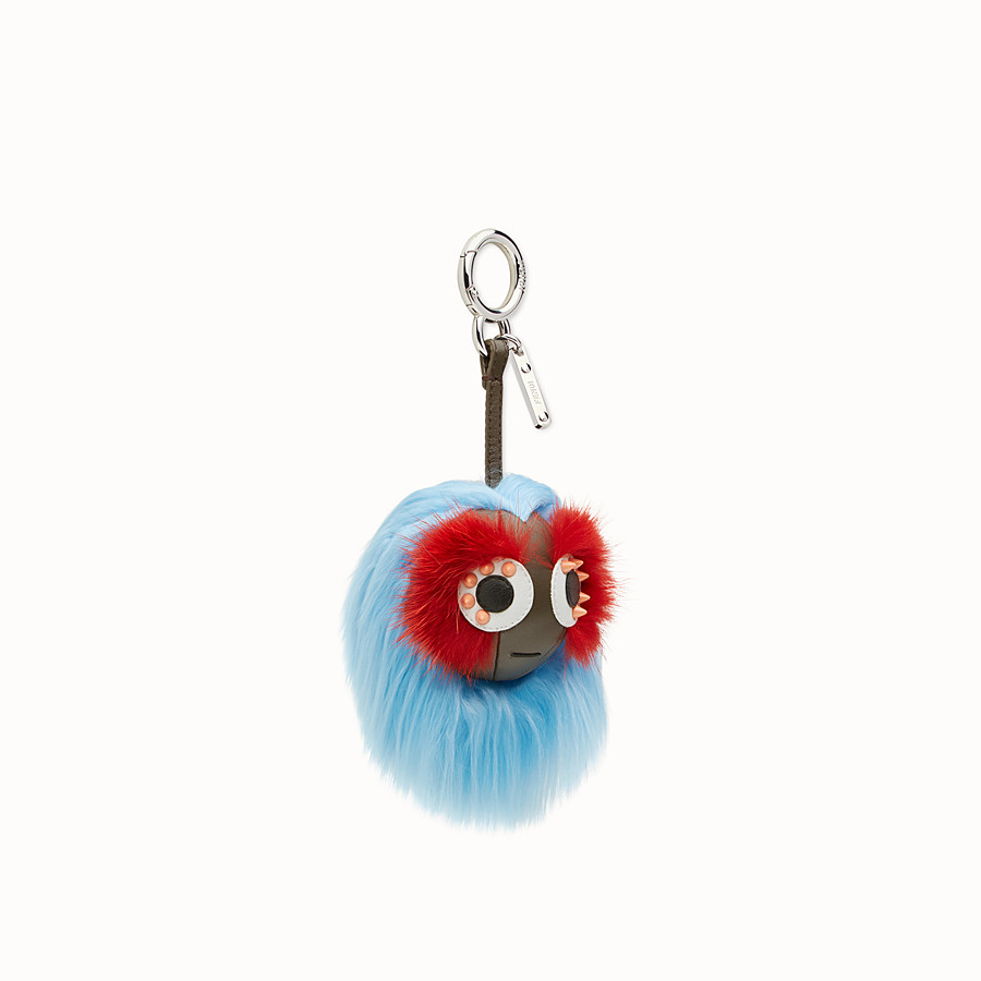 FENDI MINI BAG BUGS CHARM - Charm in multicolour fur - view 1 detail
