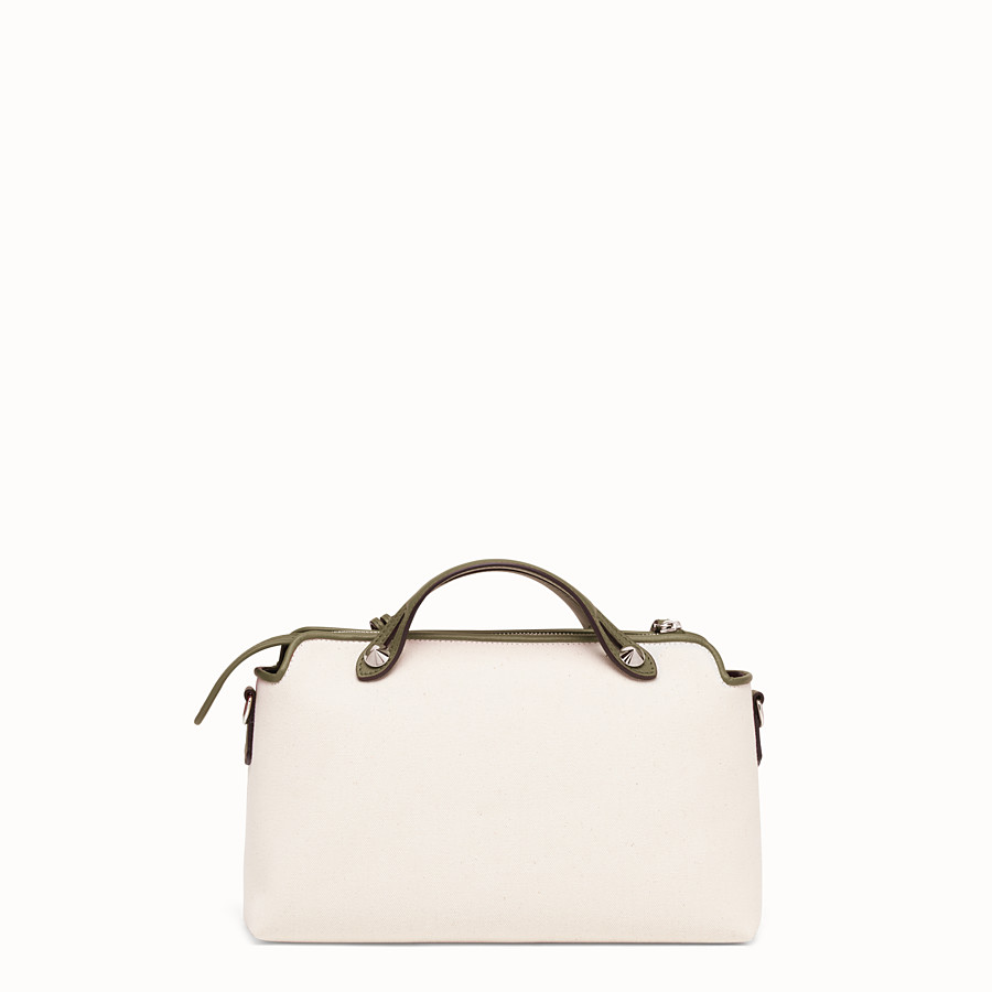 FENDI BY THE WAY MEDIUM - Beige canvas Boston bag - view 4 detail
