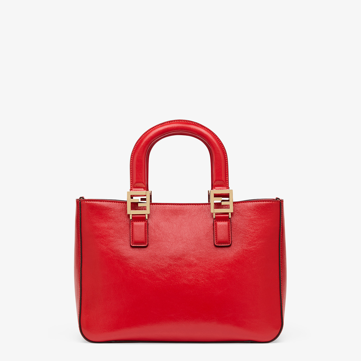 FENDI FF TOTE SMALL - Red leather bag - view 4 detail