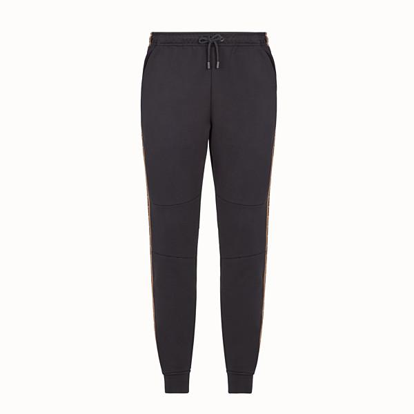 FENDI TROUSERS - Black cotton trousers - view 1 small thumbnail