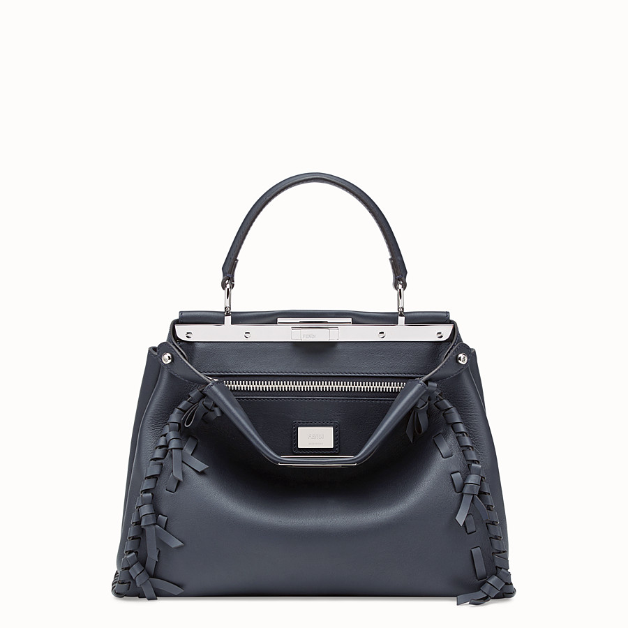 FENDI PEEKABOO REGULAR - Blue leather bag - view 1 detail