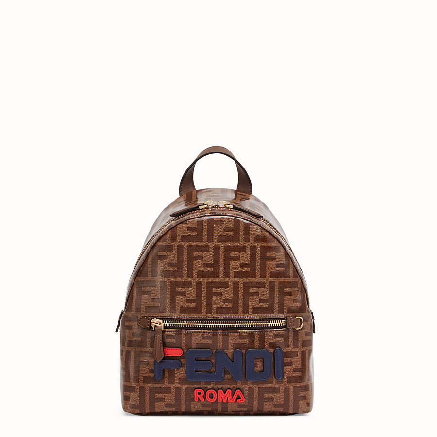 FENDI MINI BACKPACK - Small multicolour canvas backpack - view 1 detail