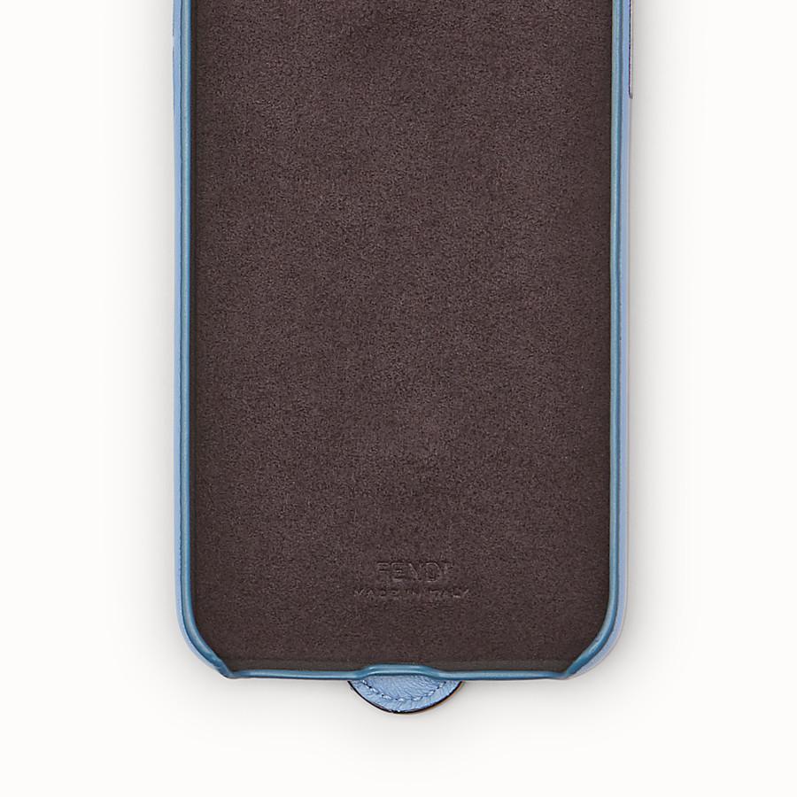FENDI iPHONE X CASE - Pale blue cover - view 2 detail