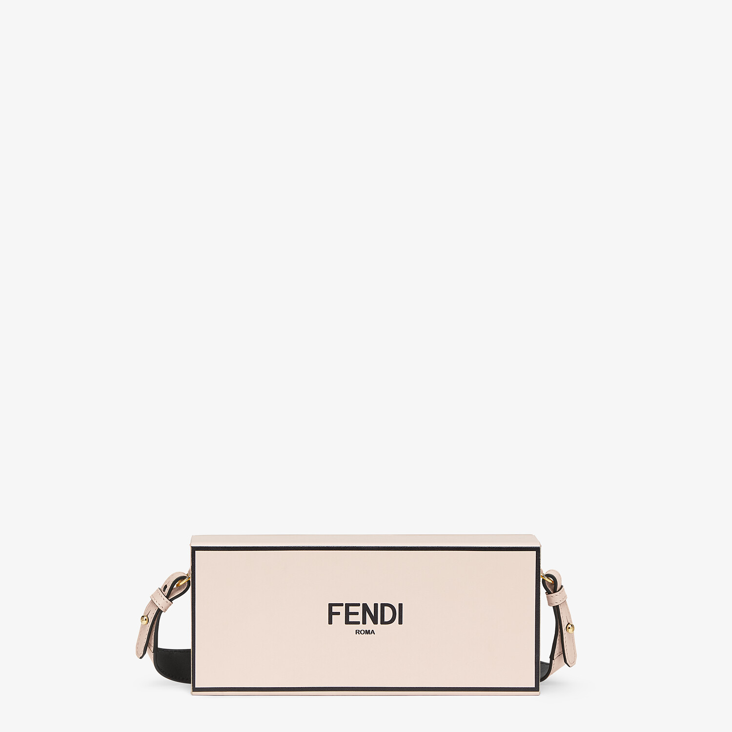 FENDI HORIZONTAL BOX - Pink leather bag - view 1 detail