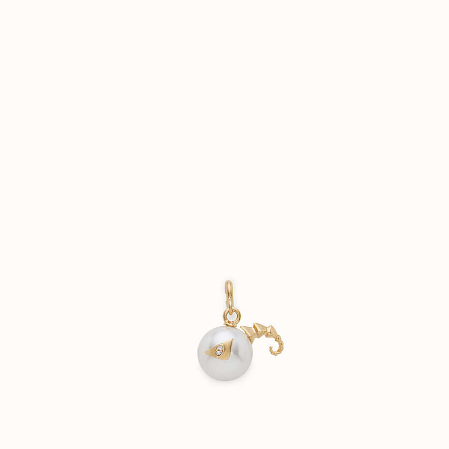 FENDI ARIES PENDANT - Pendant with pearl - view 1 detail