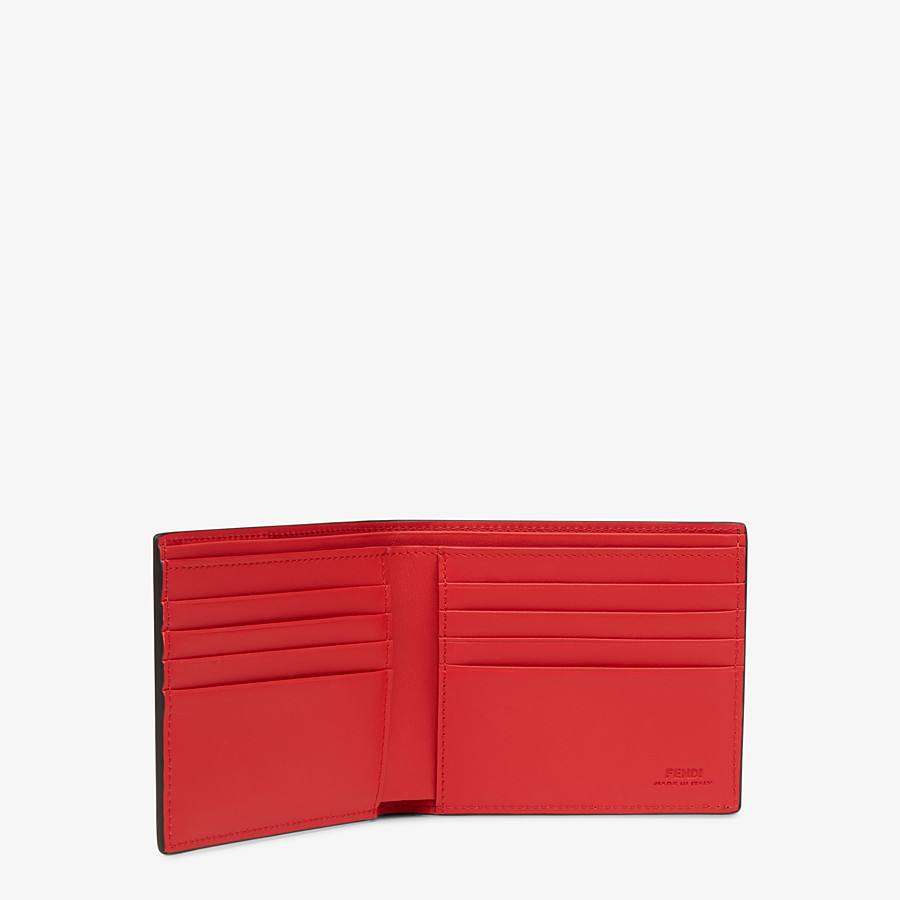 FENDI WALLET - Black leather horizontal wallet - view 3 detail