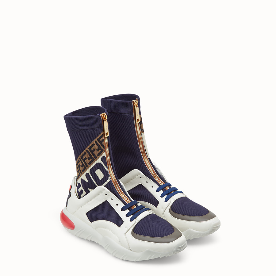 FENDI SNEAKERS - Multicoloured tech fabric high-tops - view 4 detail