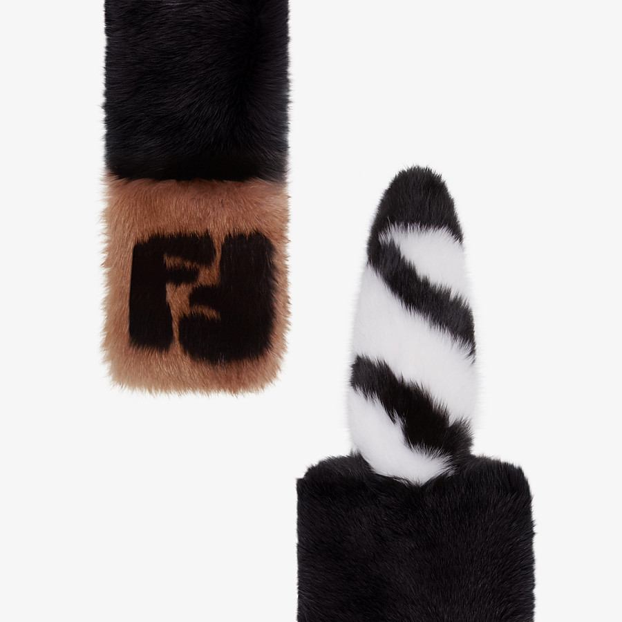 FENDI TALE SCARF - Black fox fur collar - view 1 detail