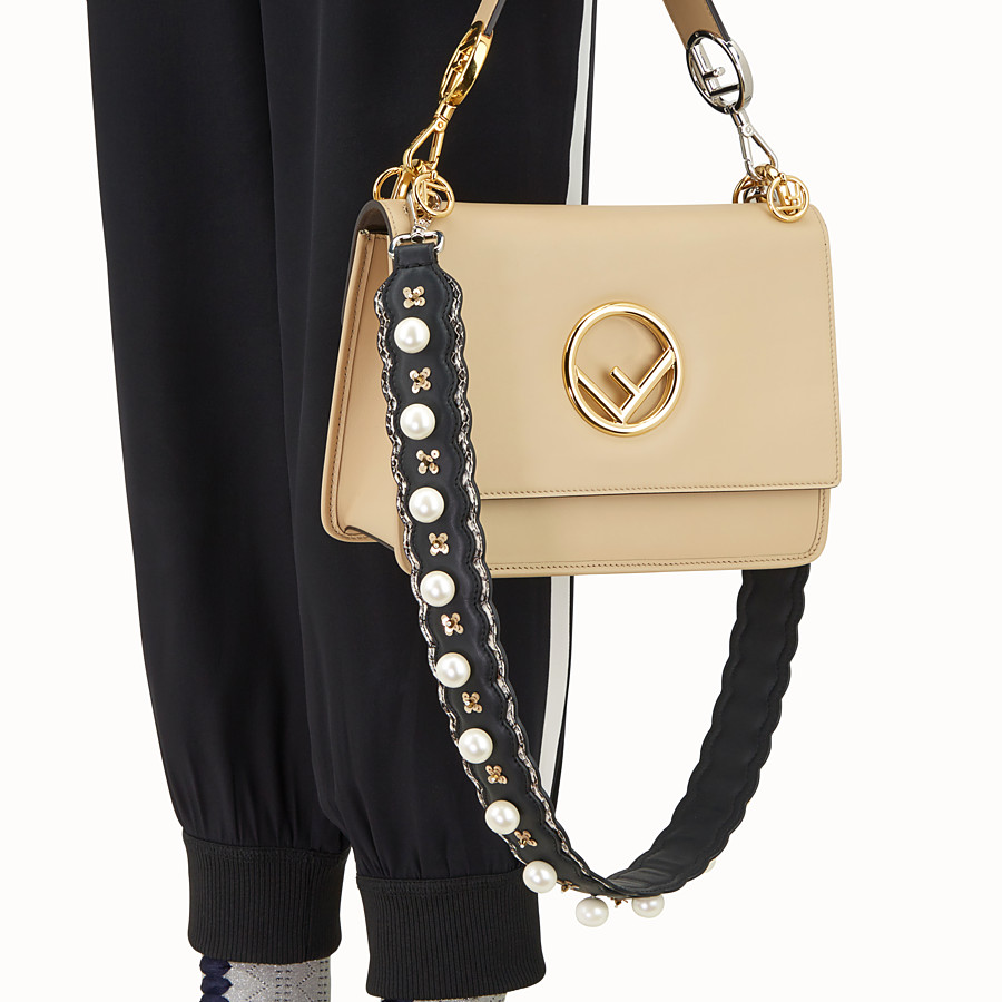 FENDI STRAP YOU - Leather shoulder strap, exotic details - view 2 detail