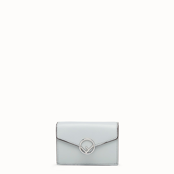 FENDI MICRO TRIFOLD - Gray leather wallet - view 1 small thumbnail
