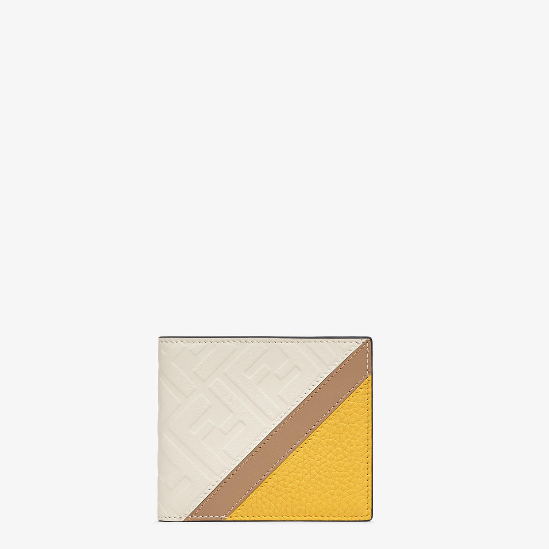 FENDI WALLET - White leather bi-fold wallet - view 1 detail