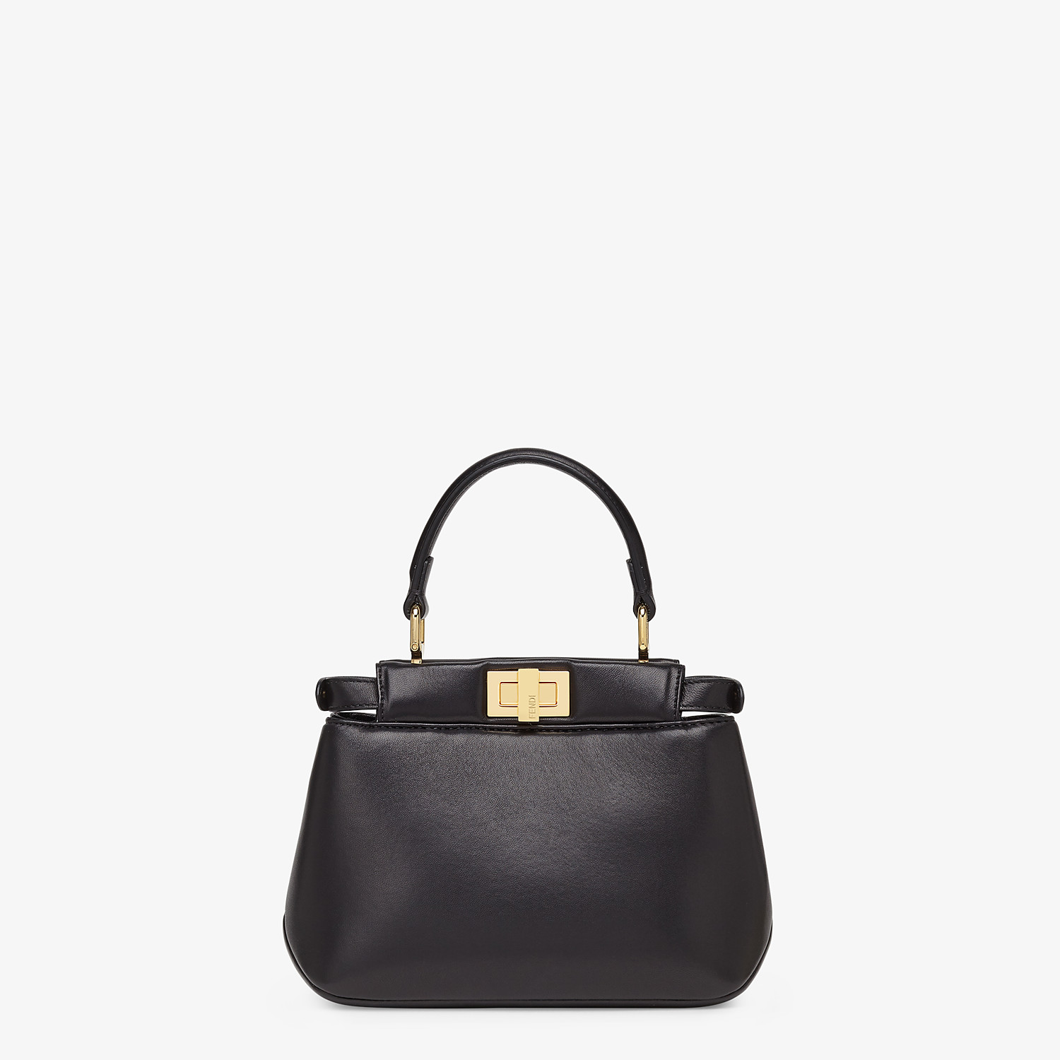 FENDI PEEKABOO ICONIC XS - Black nappa leather bag - view 4 detail