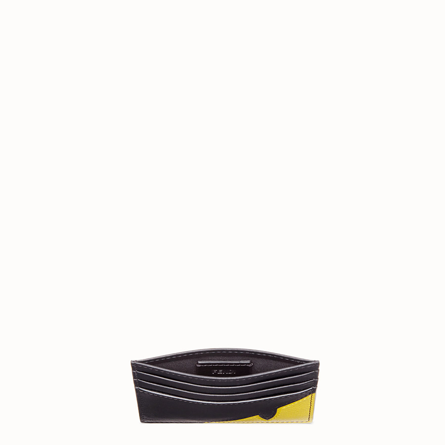 FENDI CARD HOLDER - Black calf leather card holder - view 3 detail