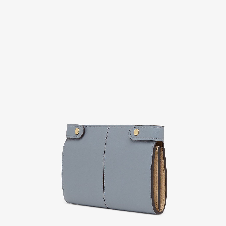 FENDI 皮夾 - 淡藍色皮革皮夾 - view 2 detail