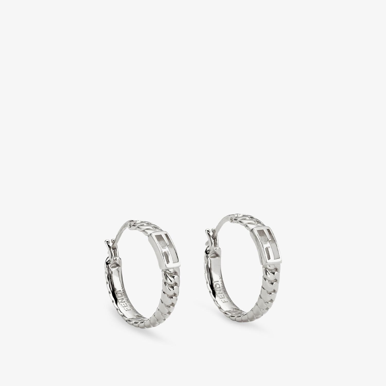 FENDI BAGUETTE SMALL EARRINGS - Silver-colored earrings - view 1 detail