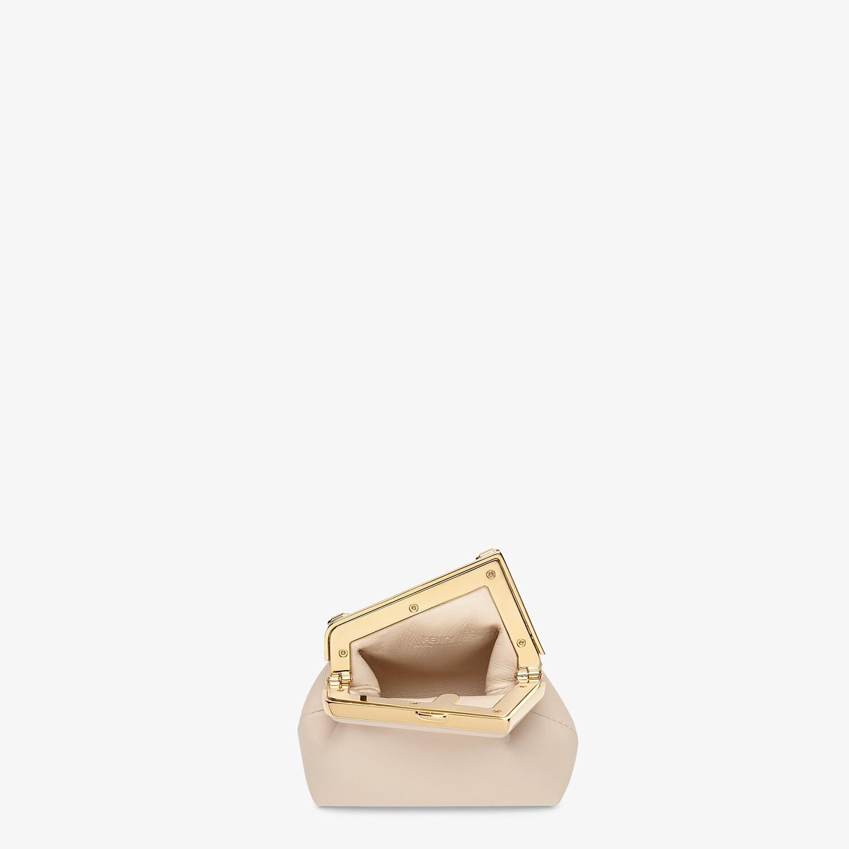 FENDI NANO FENDI FIRST CHARM - Charm in pink nappa leather - view 4 detail