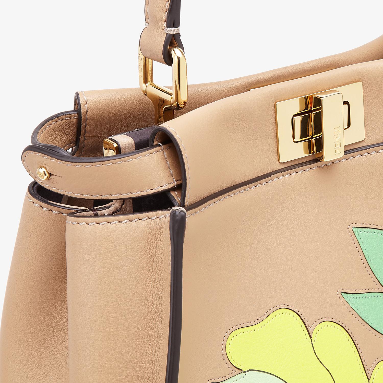 FENDI PEEKABOO ICONIC MINI - Brown leather bag - view 6 detail