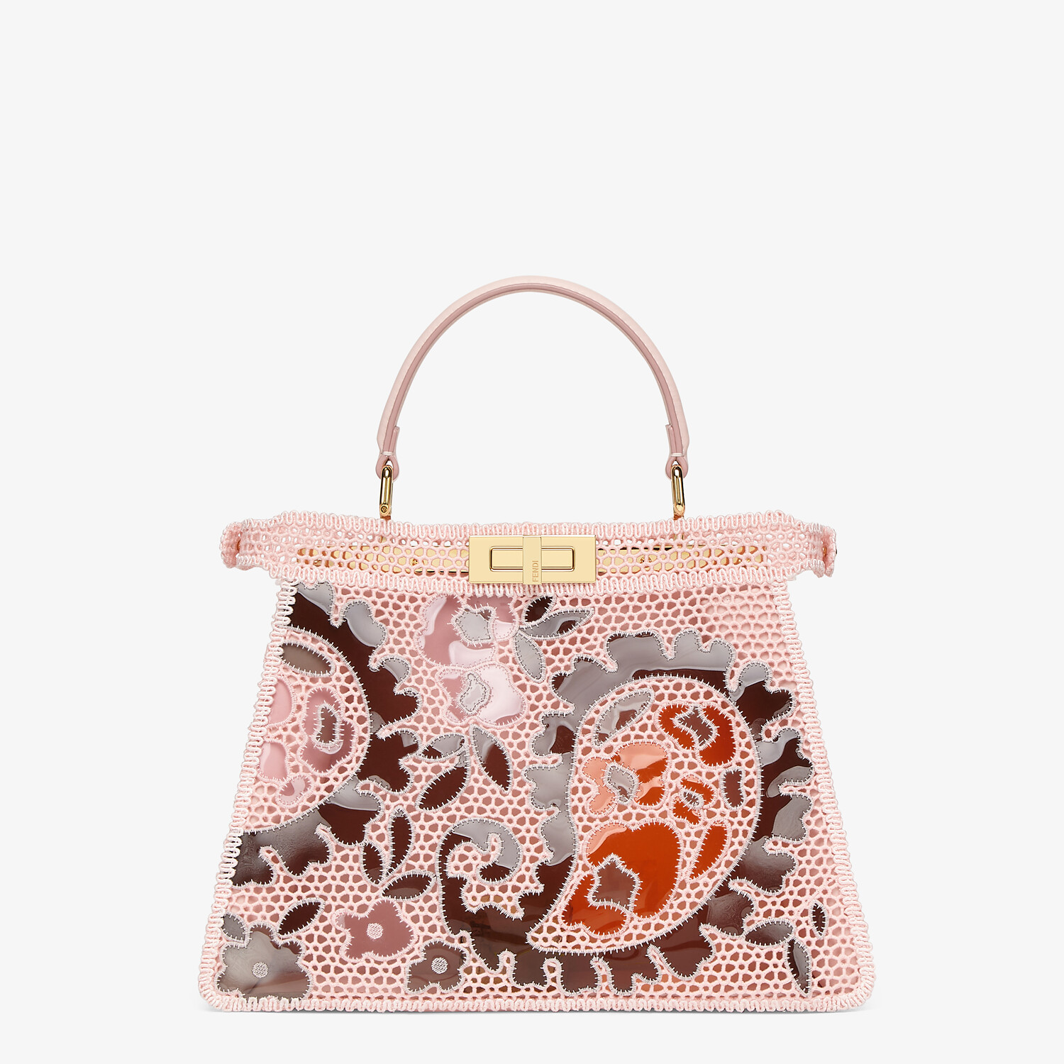 FENDI MEDIUM PEEKABOO ISEEU - Pink lace bag - view 6 detail