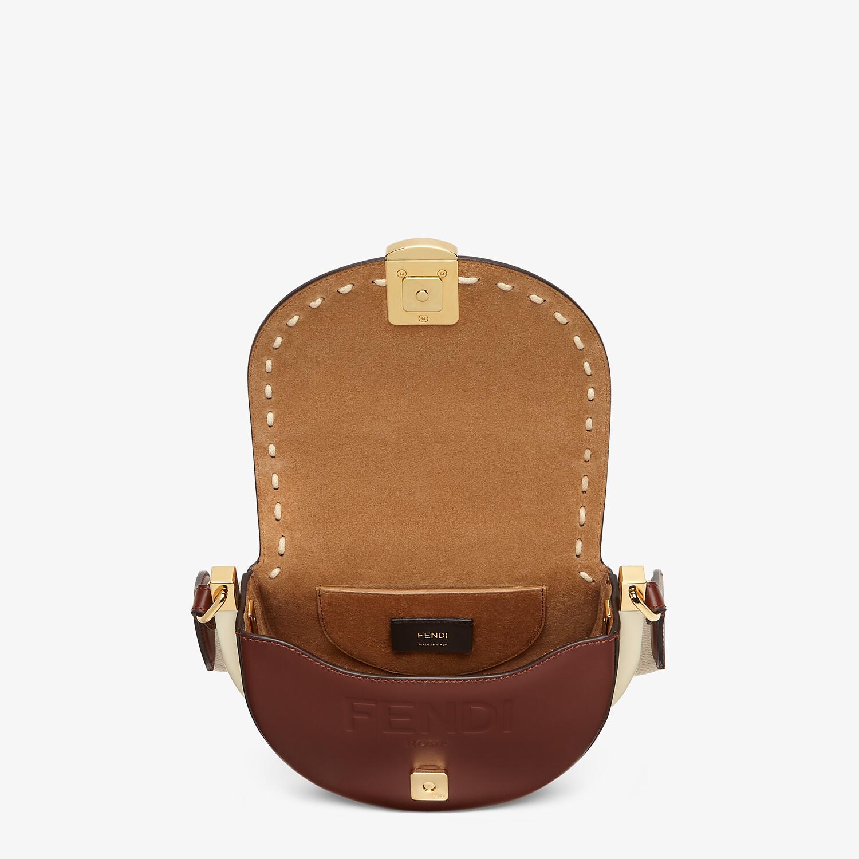 FENDI MOONLIGHT - Brown leather bag - view 4 detail