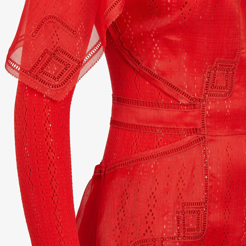 FENDI DRESS - Red silk dress - view 3 detail