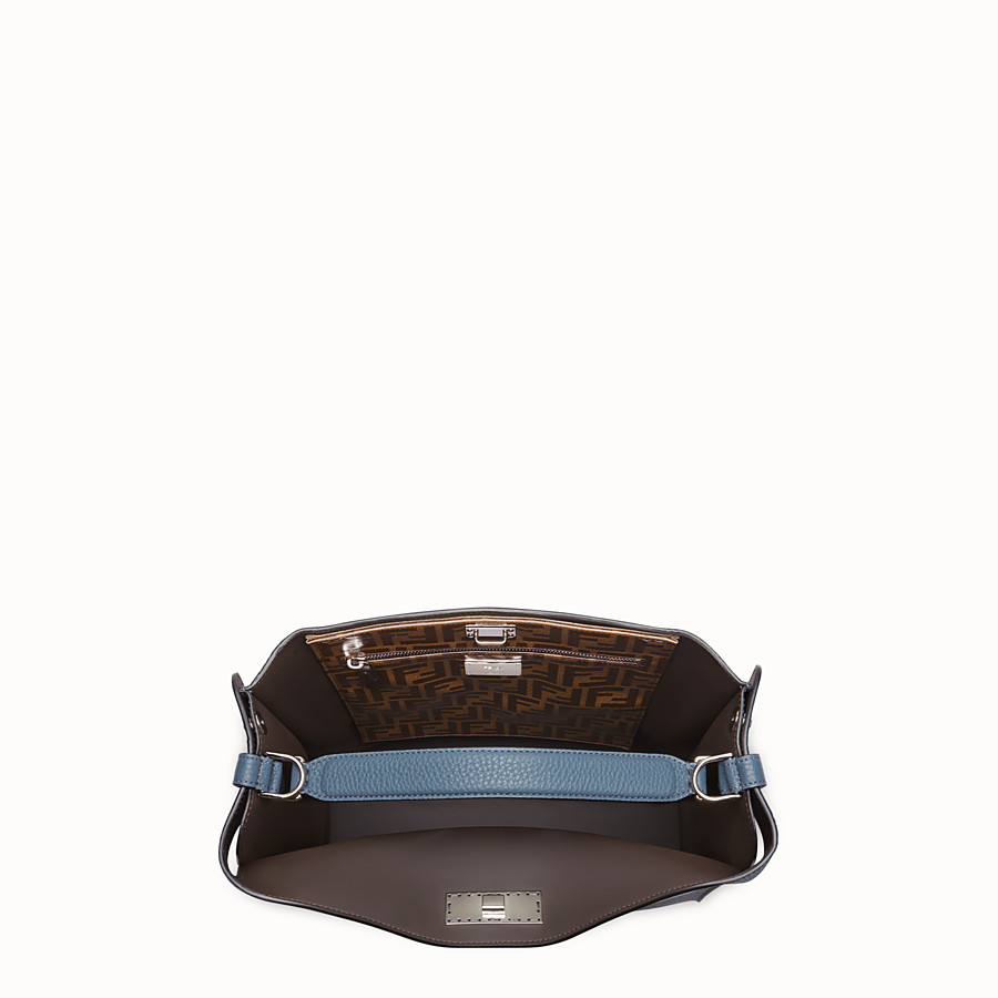 FENDI PEEKABOO X-LITE FIT - Blue Romano leather bag - view 5 detail