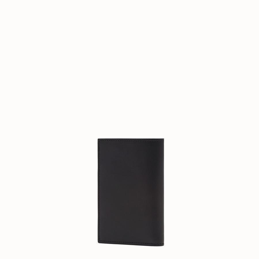 FENDI CARD HOLDER - Black leather wallet - view 2 detail