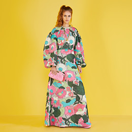 FENDI DRESS - Multicolor quilted fabric dress - view 4 thumbnail