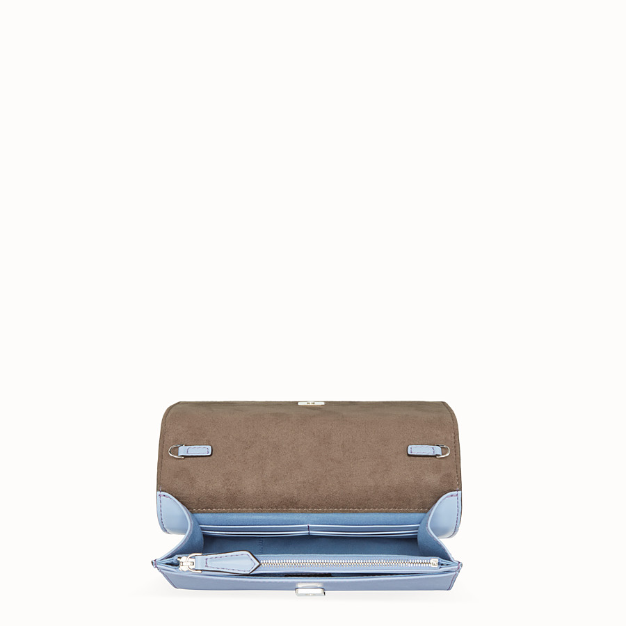 FENDI WALLET ON CHAIN - Light blue leather mini-bag - view 4 detail