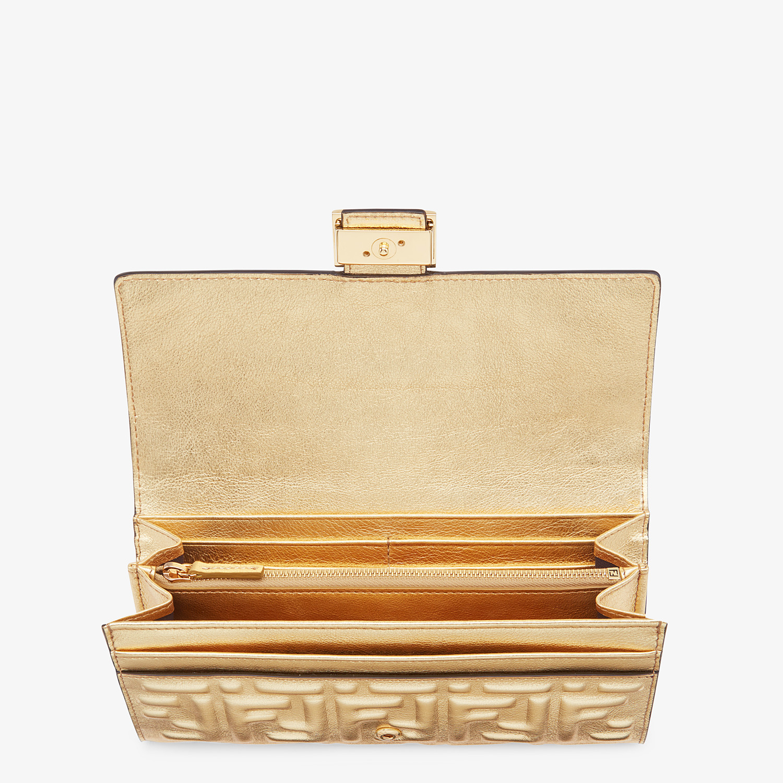 FENDI CONTINENTAL - Golden leather wallet - view 3 detail