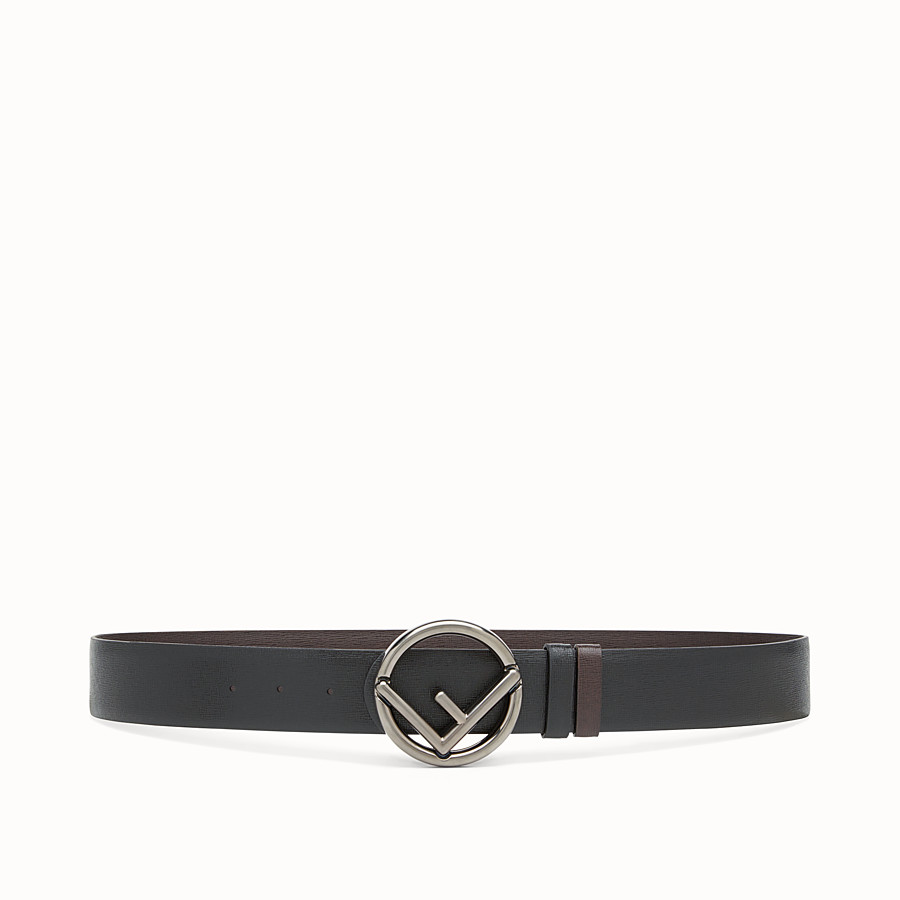 FENDI BELT - Black and brown leather belt - view 1 detail