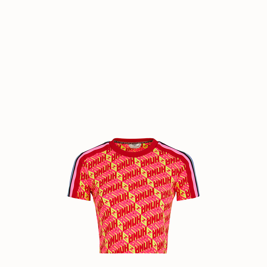 FENDI T-SHIRT - T-shirt Fendi Roma Amor in cotone - vista 1 dettaglio