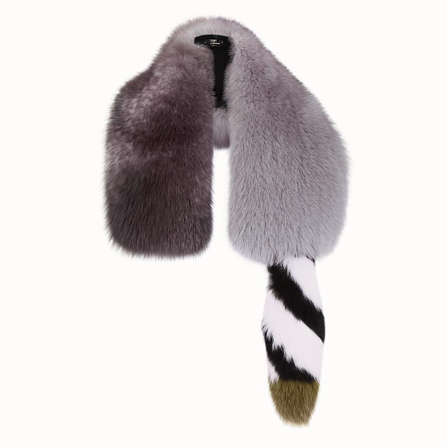 FENDI COLLAR - Grey fox fur collar - view 1 detail