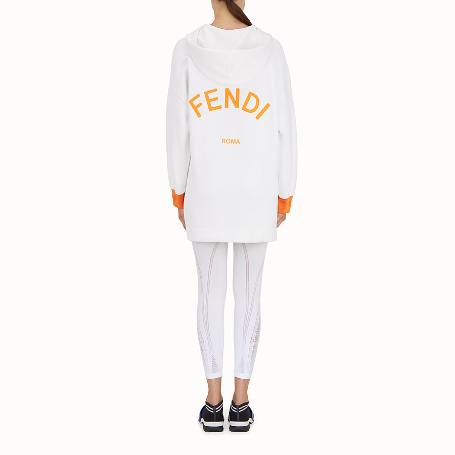 FENDI SWEATSHIRT - White fabric sweatshirt - view 3 detail