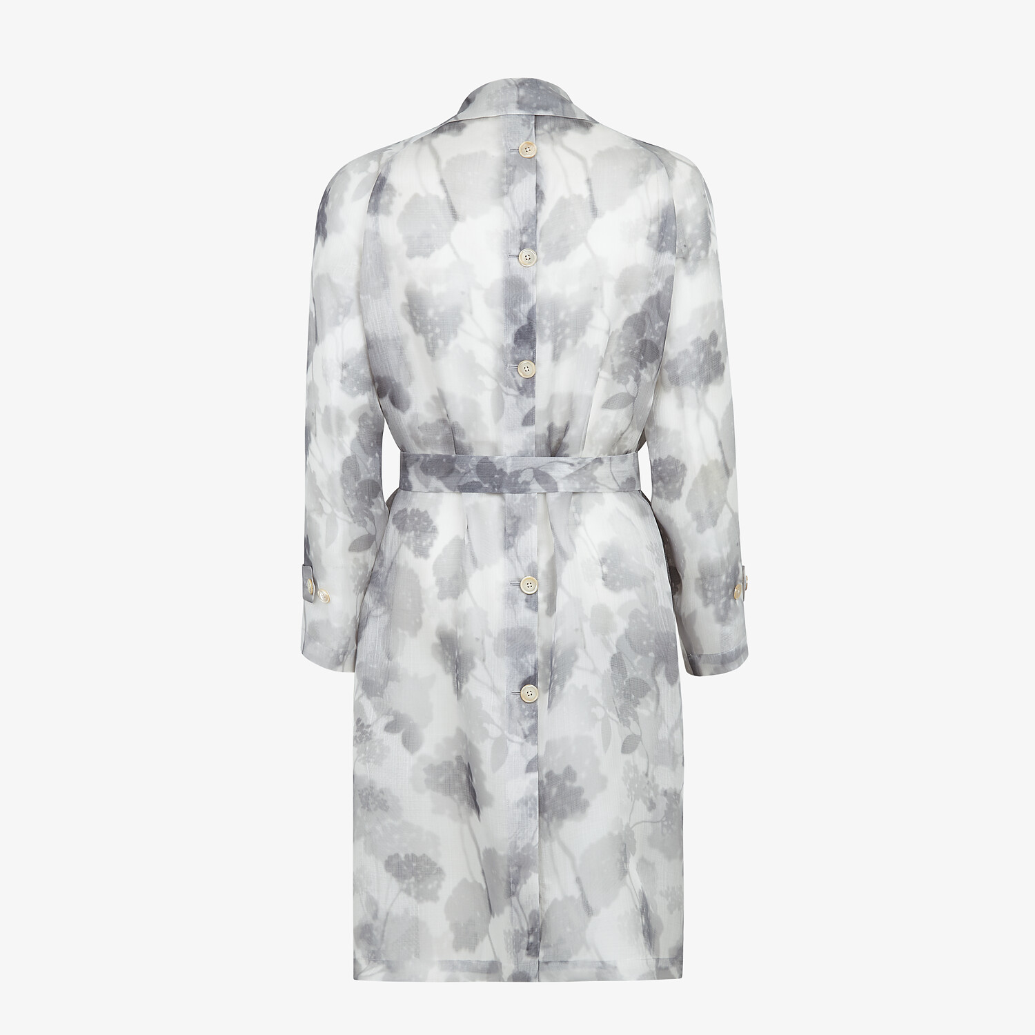 FENDI TRENCH COAT - Natural organza trench coat - view 2 detail