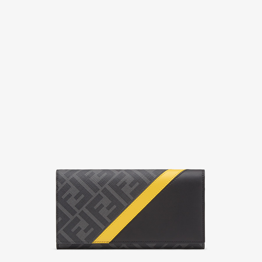 FENDI CONTINENTAL - Gray fabric wallet - view 1 detail