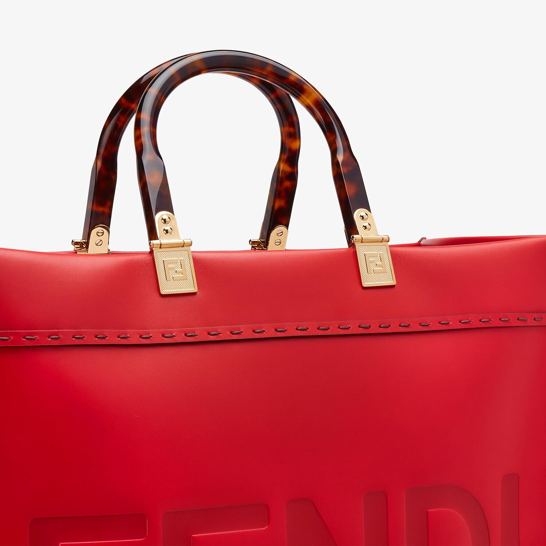 FENDI FENDI SUNSHINE MEDIUM - Red leather bag - view 5 detail